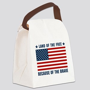 Land of the Free Flag Canvas Lunch Bag