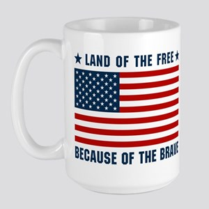 Land of the Free Flag Large Mug
