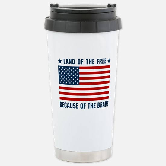 Land of the Free Flag Stainless Steel Travel Mug