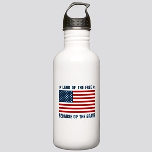 Land of the Free Flag Stainless Water Bottle 1.0L