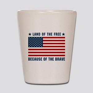 Land of the Free Flag Shot Glass