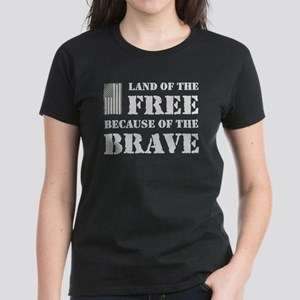 Land of the Free Camo Women's Dark T-Shirt