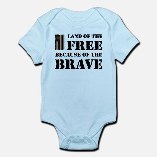 Land of the Free Camo Infant Bodysuit