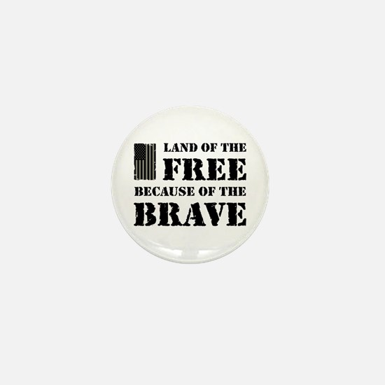 Land of the Free Camo Mini Button