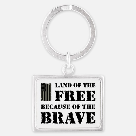 Land of the Free Camo Landscape Keychain