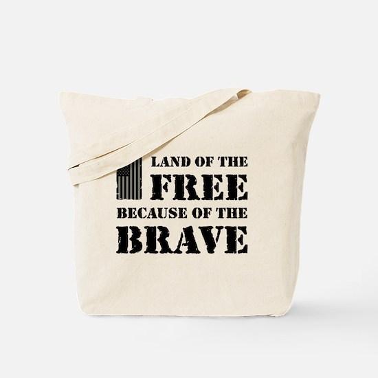 Land of the Free Camo Tote Bag