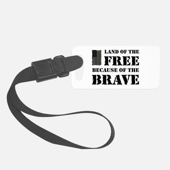 Land of the Free Camo Luggage Tag