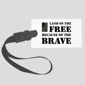 Land of the Free Camo Large Luggage Tag