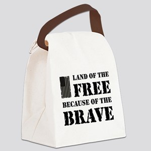 Land of the Free Camo Canvas Lunch Bag