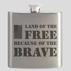 Land of the Free Camo Flask