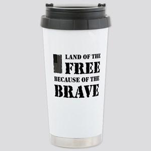 Land of the Free Camo Stainless Steel Travel Mug