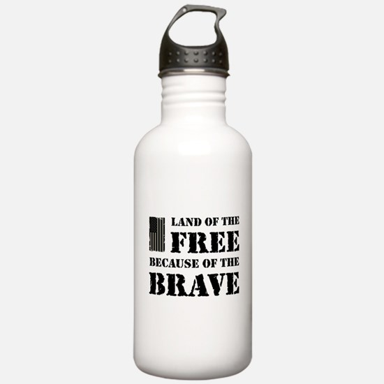 Land of the Free Camo Water Bottle