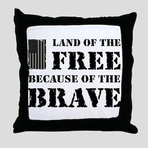 Land of the Free Camo Throw Pillow