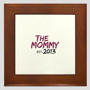 New Mommy Est 2013 Framed Tile
