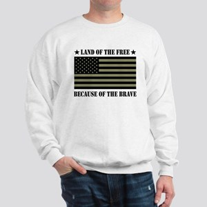 Land of the Free Camo Flag Sweatshirt