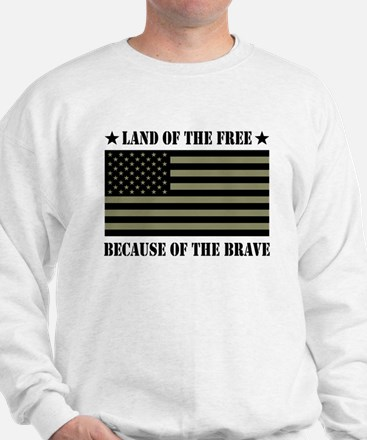 Land of the Free Camo Flag Jumper