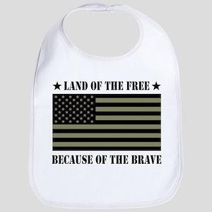 Land of the Free Camo Flag Bib