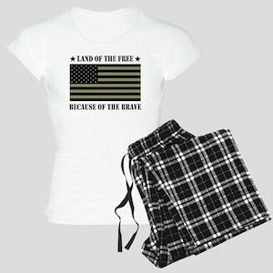 Land of the Free Camo Flag Women's Light Pajamas