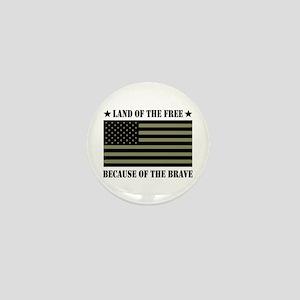 Land of the Free Camo Flag Mini Button