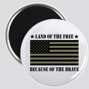 Land of the Free Camo Flag Magnet