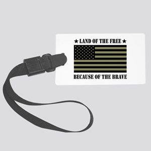 Land of the Free Camo Flag Large Luggage Tag