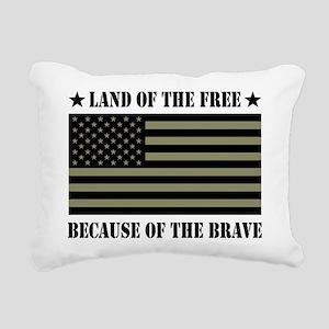Land of the Free Camo Flag Rectangular Canvas Pill