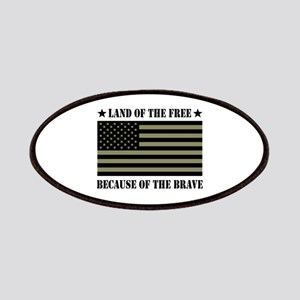 Land of the Free Camo Flag Patches