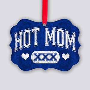Hot Mom Blue Ornament