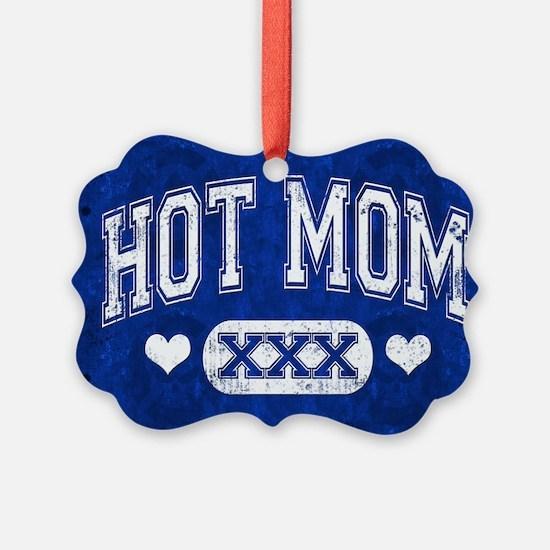 Hot Mom Blue Ornament