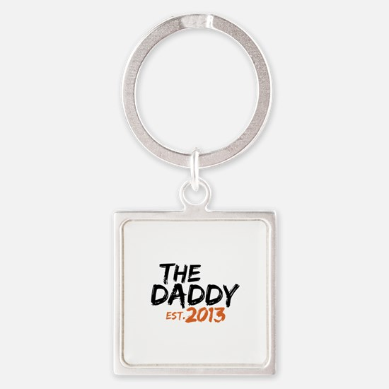 The Daddy Est 2013 Square Keychain