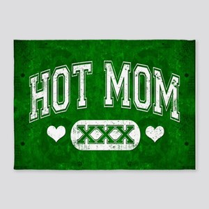 Hot Mom Green 5'x7'Area Rug