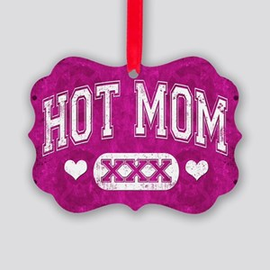Hot Mom Pink Ornament