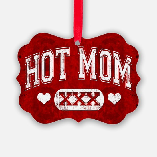 Hot Mom Red Ornament