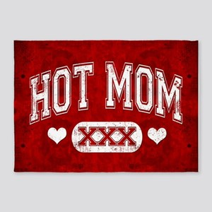 Hot Mom Red 5'x7'Area Rug