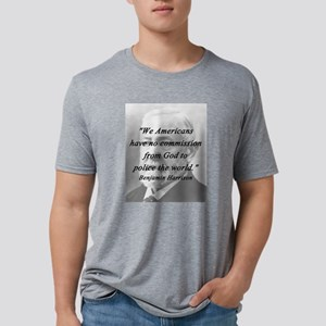Harrison - Police the World Mens Tri-blend T-Shirt