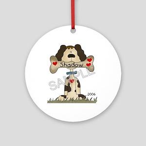 **SAMPLE** Dog Name Ornament (Round)
