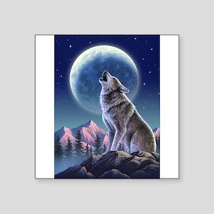 Howling Wolf 1 Rectangle Sticker