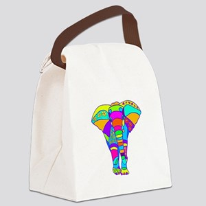 elephant colored designed Canvas Lunch Bag