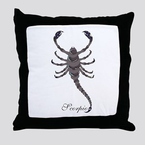 Starlight Scorpio Throw Pillow