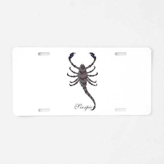 Starlight Scorpio Aluminum License Plate