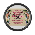 2012 Faerie Gathering Large Wall Clock