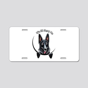 Black GSD IAAM Aluminum License Plate
