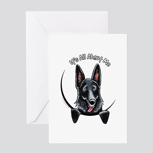 Black GSD IAAM Greeting Card