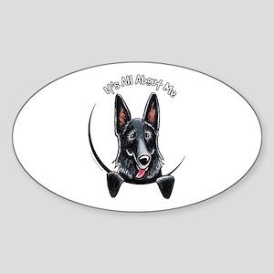 Black GSD IAAM Sticker (Oval)