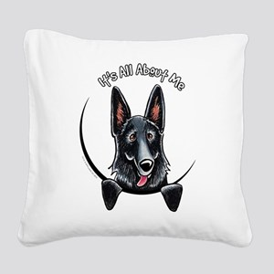 Black GSD IAAM Square Canvas Pillow