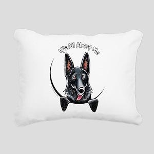 Black GSD IAAM Rectangular Canvas Pillow