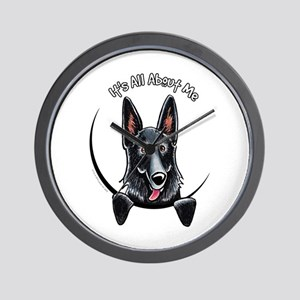 Black GSD IAAM Wall Clock