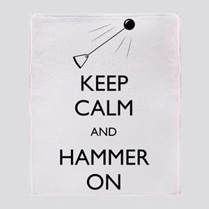 Keep Calm and Hammer On - Throw Blanket