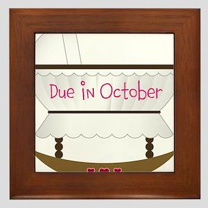 Pink Due In December Framed Tile