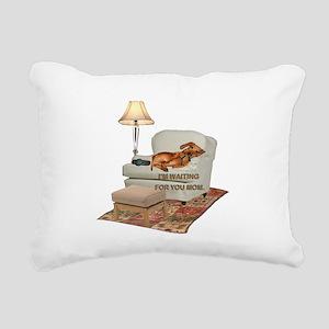 tig in chair MOM Rectangular Canvas Pillow